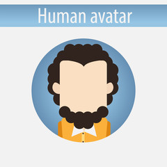 Avatar male Professor white man flat