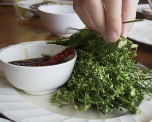 neem leaf food plate