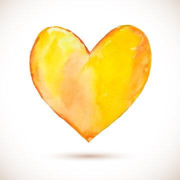 Heart-yellow
