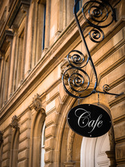 Exclusive Cafe Sign