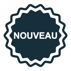 nouveau new badge icon