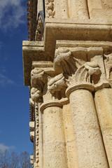 détail d'une colonne néogothique