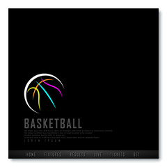 Basketball Black Freehand Sketch Sparse Graphic Design Vector Illustration EPS10