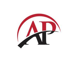 AP red letter logo swoosh