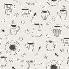 vector seamless coffee pattern
