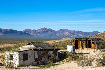 Rhyolite Ghost Town in Nevada, USA
