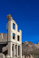 Rhyolite Ghost Town in Nevada, USA, BLM owned