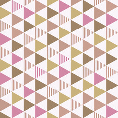 Seamless pattern triangle. 三角のパターン