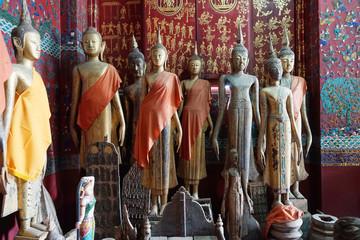 Buddha statues of Wat Xieng Thong, Luang Prabang, Laos