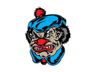 Mysteri Head Clown Graphic Design
