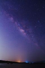 milky way on the sky