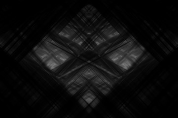 Abstract grey fractal background with various color lines and st