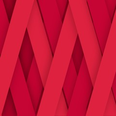 Flat pink stripes. Red background