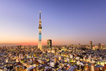 Fototapete - Tokyo City Skyline