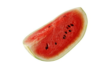 red watermelon isolated on white