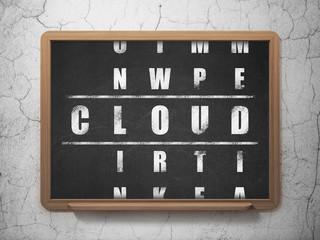 Cloud networking concept: Cloud in Crossword Puzzle