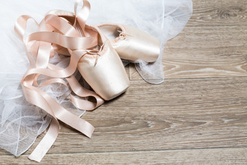 Custom vertical slats with your photo pink ballet shoes