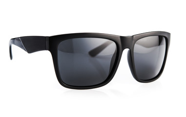 Black sunglasses isolated