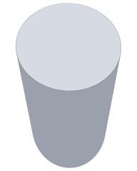 White cylinder isolated