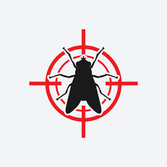 fly icon red target