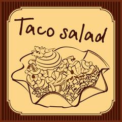 Taco salad vector