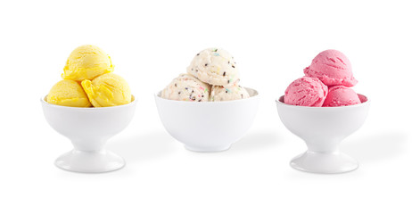 Various ice cream cups.
