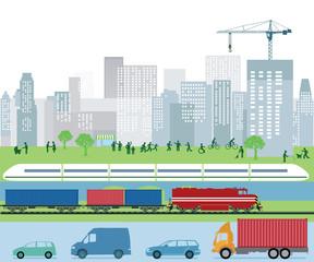 Verkehr und Beförderung in der Stadt