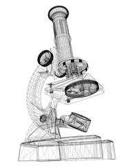 Scientific microscope. medicine