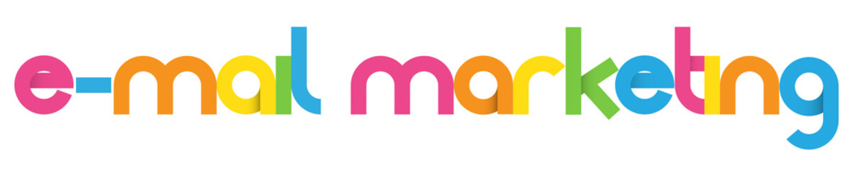E-MAIL MARKETING Vector Letters Icon
