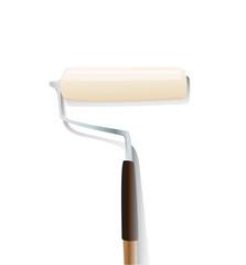 roller paintbrush vector