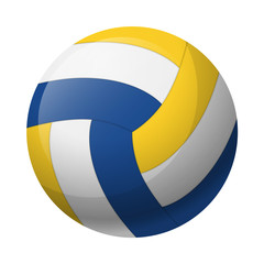 Vector illustration. Leather volleyball ball isolated on a white background