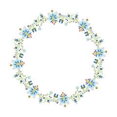 Okrągły wzór ludowy