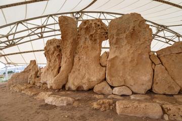 Limestones of Hagar Qim an Mnajdra