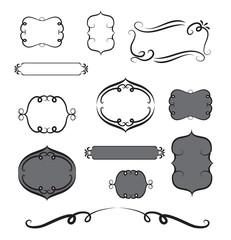 Frame hand drawn black and white vector design