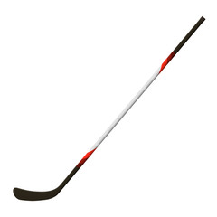 Vector illustration. Hockey stick isolated on a white background