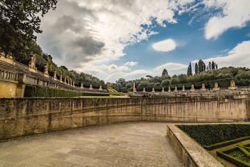 Italian-style gardens in Florence