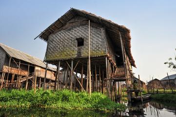Village house at Inle lake,Myanmar