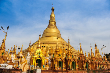 Shwedagon the famous pagoda in Myanmar.