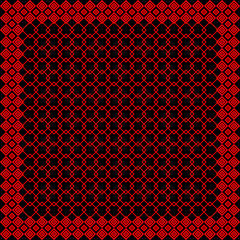 Black and red keffiyeh for men the middle East. Vector template.