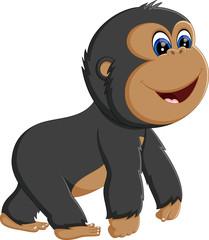 Funny gorilla cartoon of illustration