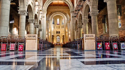Internal of cathedral Saint Anne in Belfast Wall mural