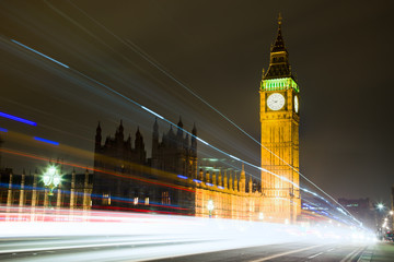 Big Ben at Night in London