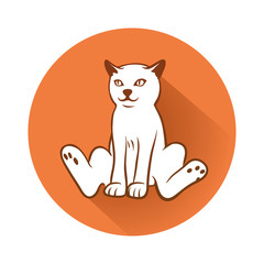 This is an illustration of a cat symbol