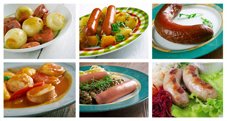 set of different  Sausage