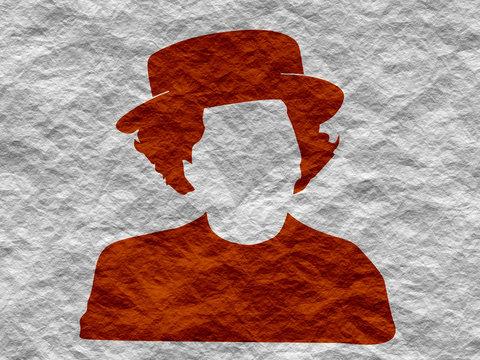 Vintage woman silhouette