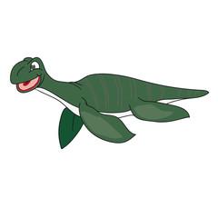 The green image of a plesiosaur.