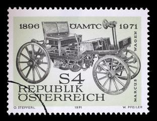 Stamp printed by Austria, shows Marcus Car, circa 1971