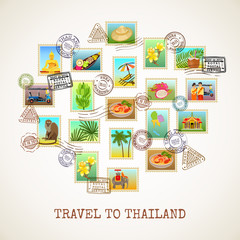 Thailand Postcard Poster