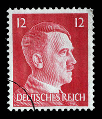 Stamp printed in Germany shows image of Adolf Hitler, series, 1942