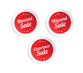 Blowout, Wipeout & Clearance Sale Stickers